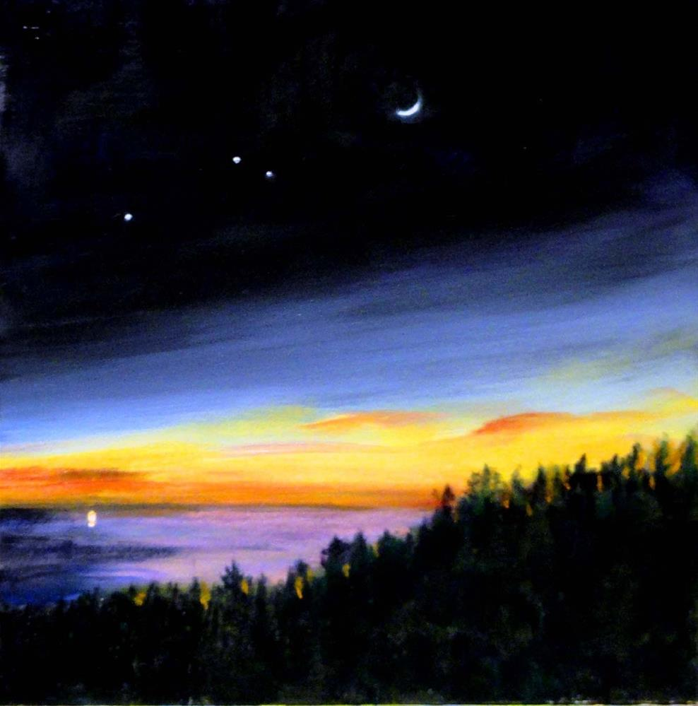 """Night Magic"" original fine art by Cietha Wilson"