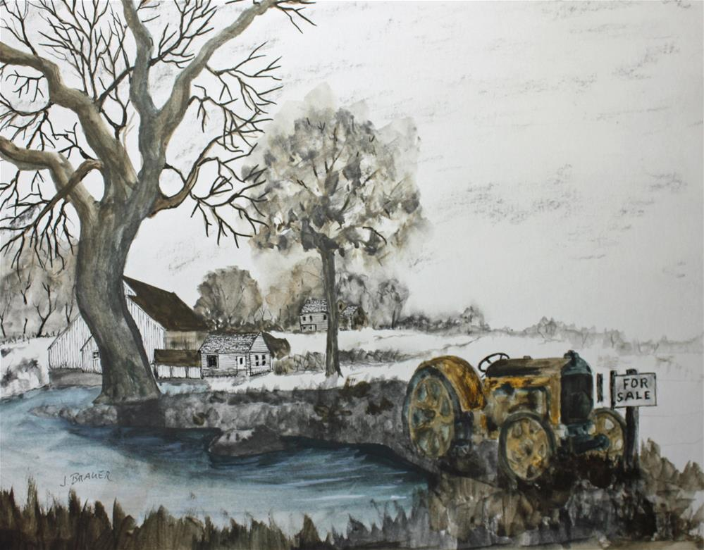 """Case Tractor For Sale"" original fine art by Jack Brauer"