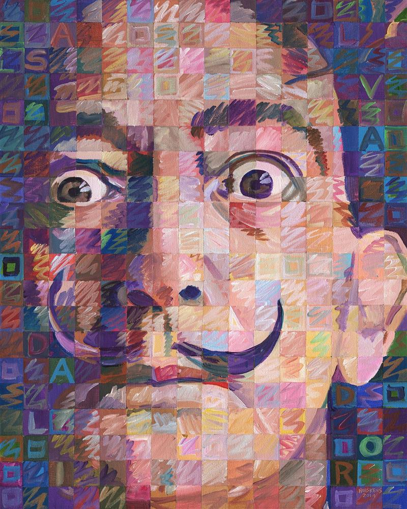 """Salvador Dali #2"" original fine art by Randal Huiskens"