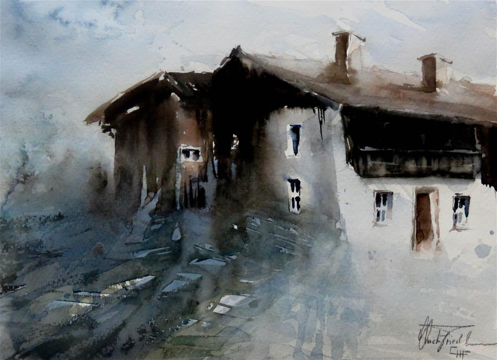 """farmhouse in the Tyrol, Austria"" original fine art by Christa Friedl"