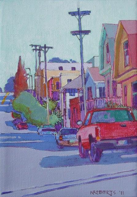 """Ceres Street, Crockett"" original fine art by Nancy Roberts"