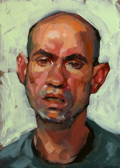 """Gruff"" original fine art by John Larriva"