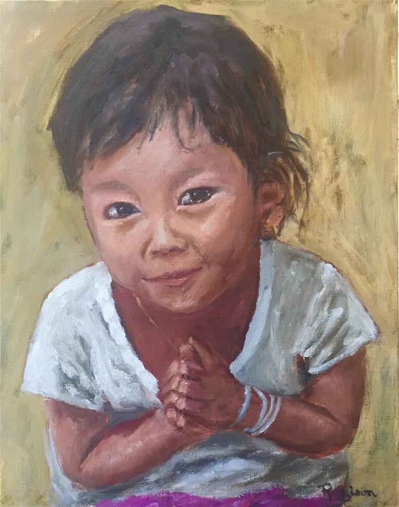 """Namaste "" original fine art by Renee Robison"