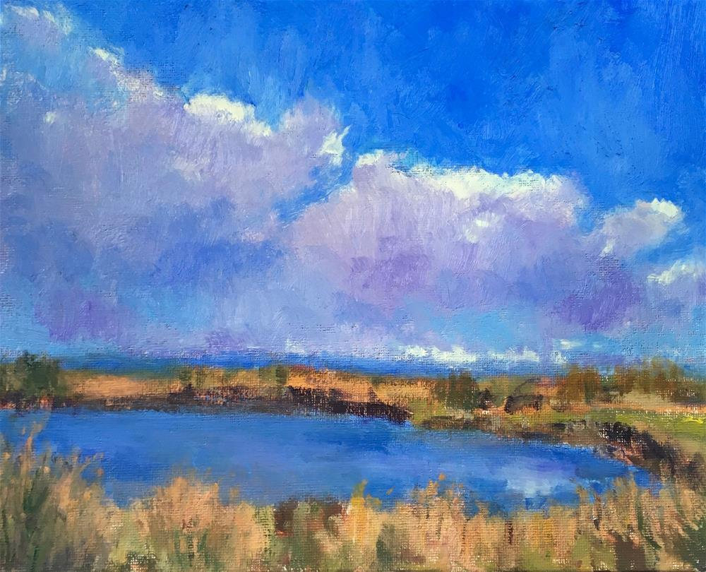 """Blue"" original fine art by Victoria  Biedron"