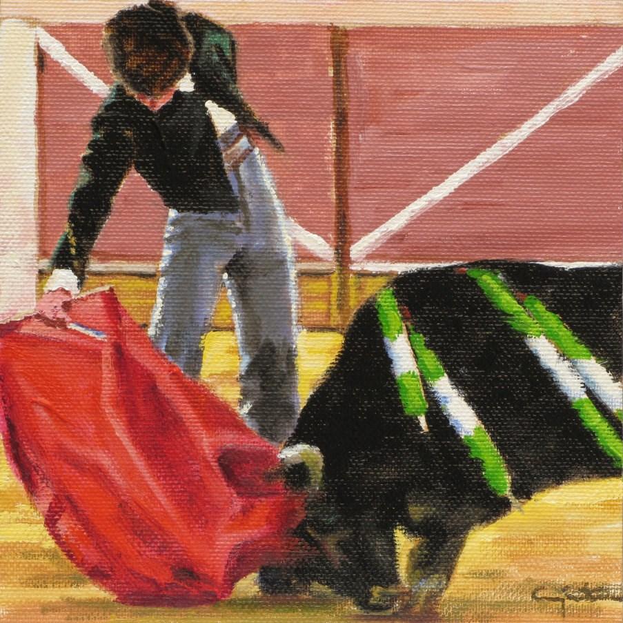 """""""Tiene arte el muchacho"""" original fine art by Eduardo Carpintero"""
