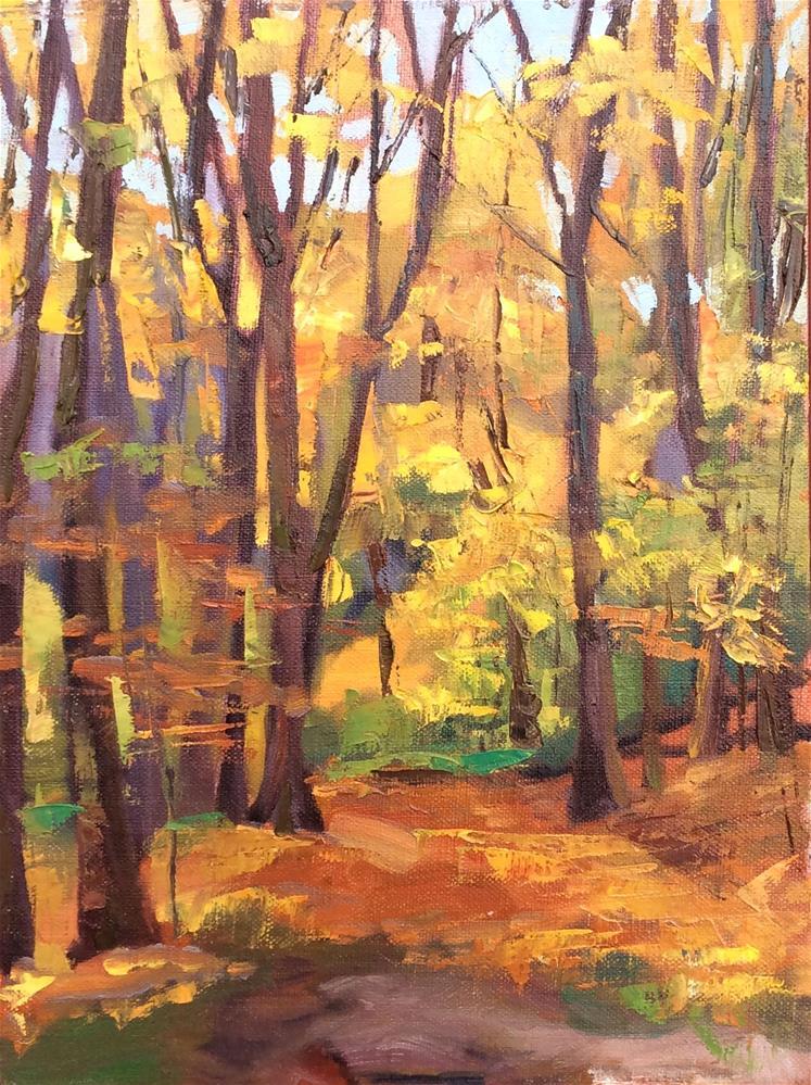 """Mellow Yellow Morning"" original fine art by Kathleen Gray Farthing"
