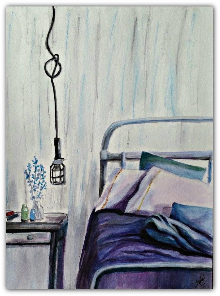 """My Bedroom"" original fine art by Dana C"