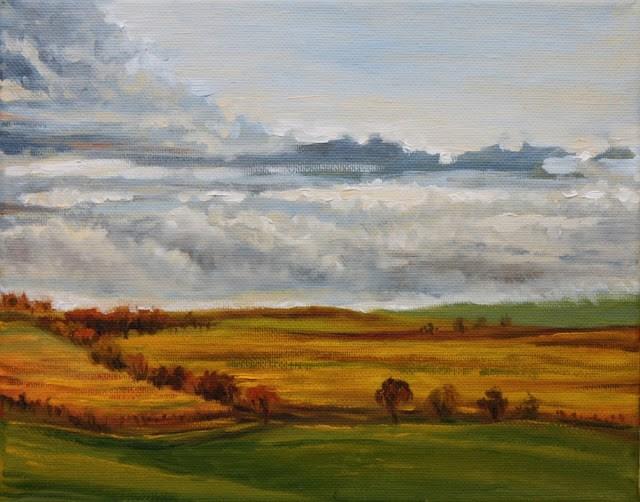 """Gray day"" original fine art by Hilary J. England"