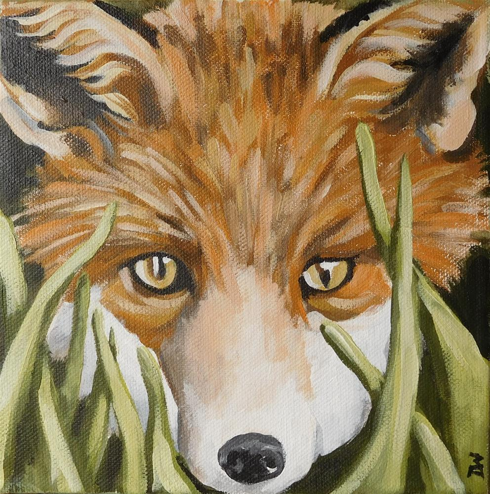 """F is for Fox"" original fine art by Daryl West"