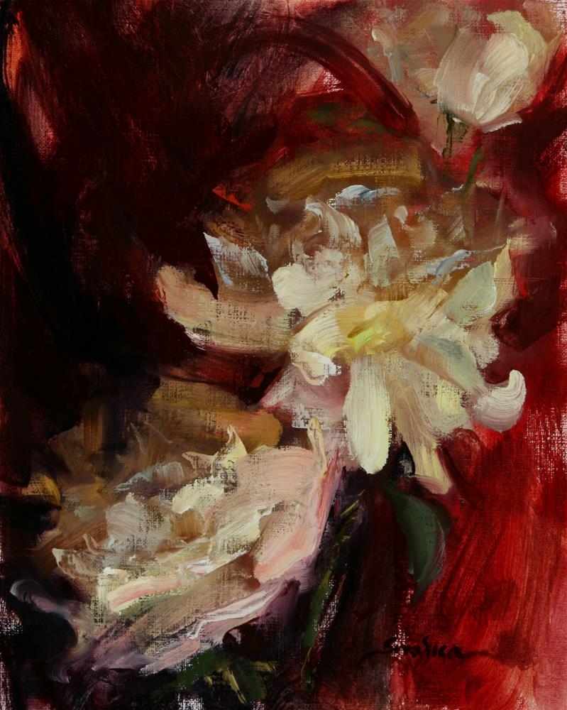 """Peonies Study"" original fine art by Scott Serafica"