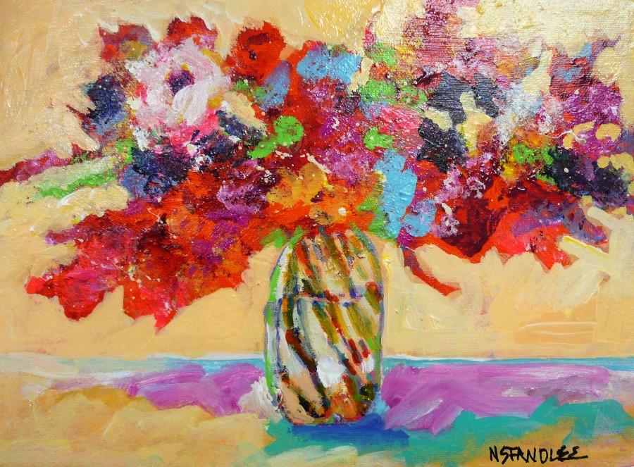 Dallas Floral 11008 original fine art by Nancy Standlee