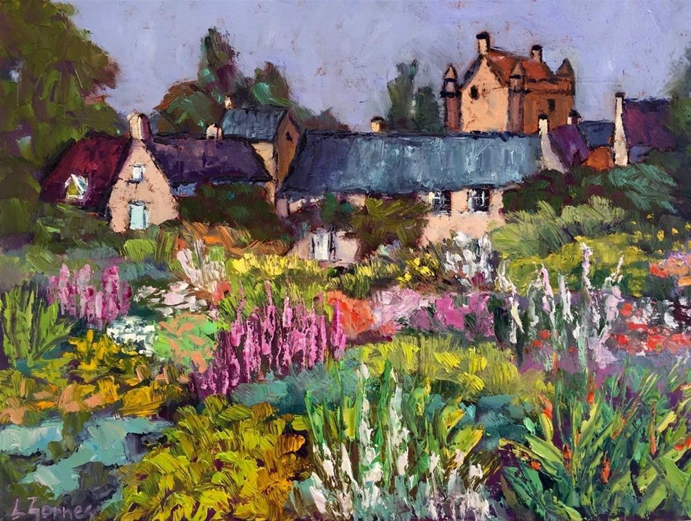 """Castle Gardens, Scotland"" original fine art by Liz Zornes"