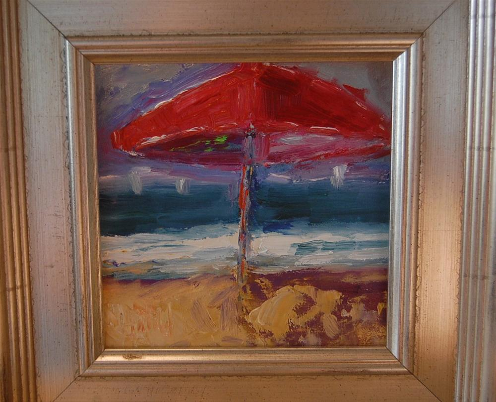 """Red Umbrella #2"" original fine art by Deborah Harold"