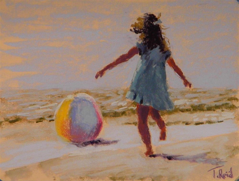 """Childish fun"" original fine art by Toby Reid"