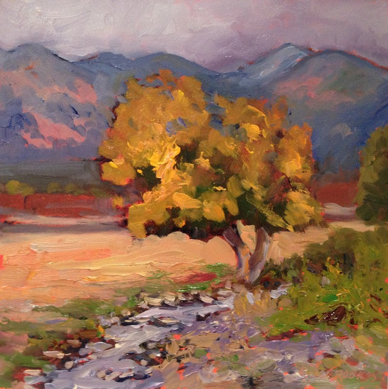 """Taos Tree I, Day 49"" original fine art by Claudia L Brookes"