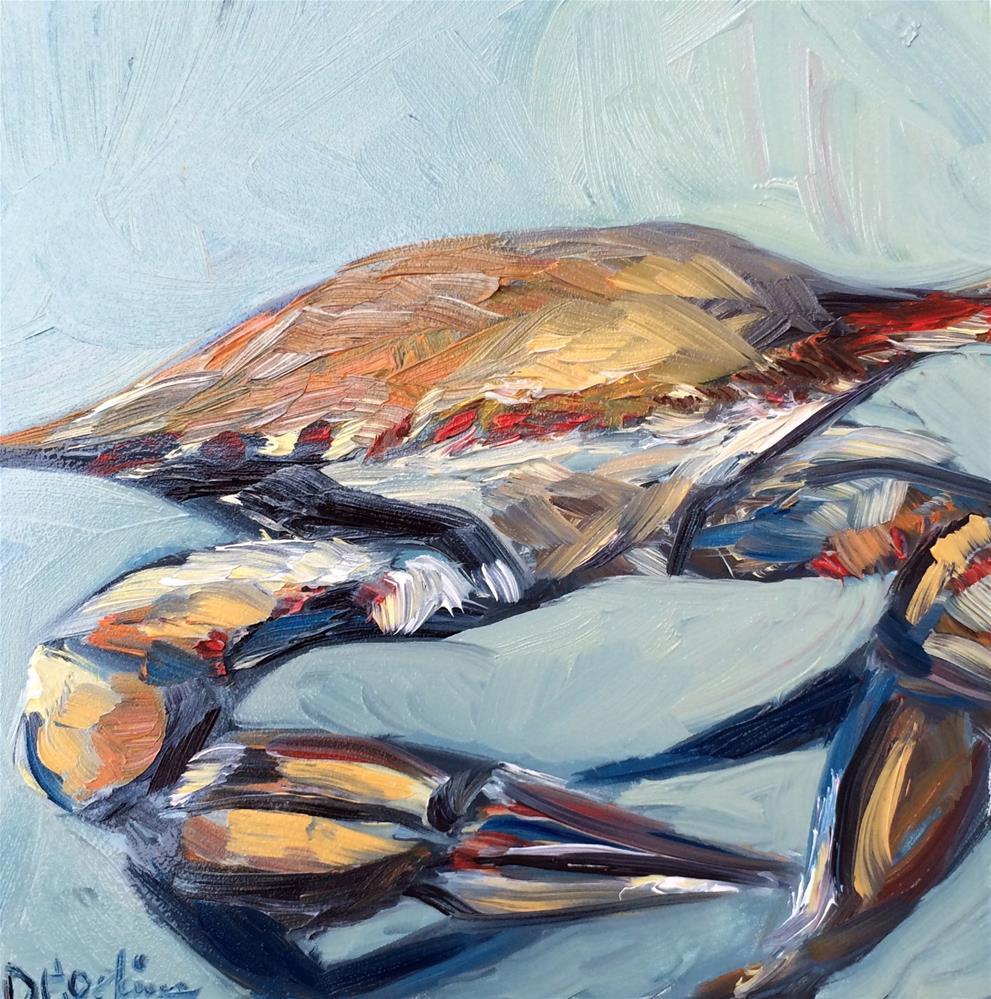 """Crabby"" original fine art by Denise Hopkins"