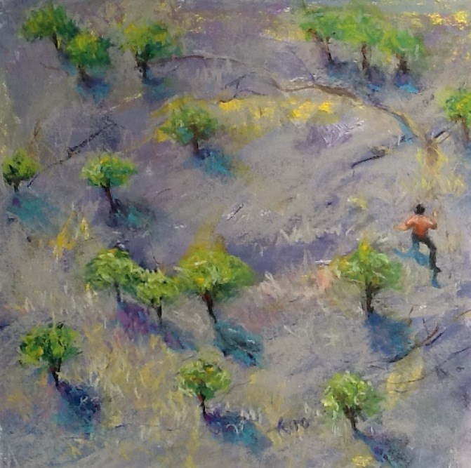 """Path Finder or Lost?"" original fine art by Susan Ferro"