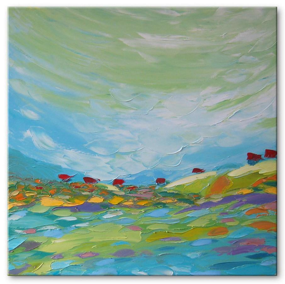 """Blue valley"" original fine art by Elena Lunetskaya"