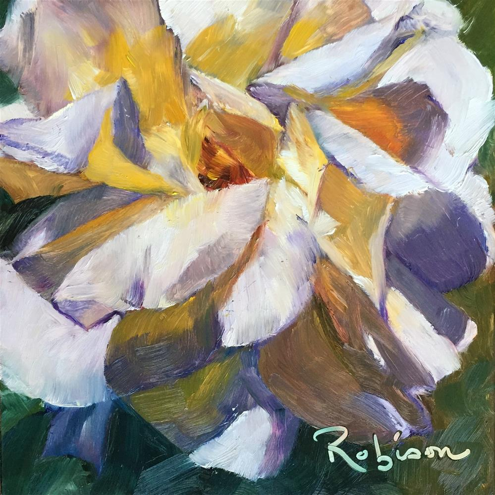 """Rose study: 8 of 10"" original fine art by Renee Robison"