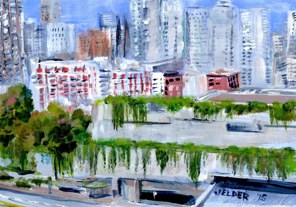 """Freeway Park"" original fine art by Judith Elder"