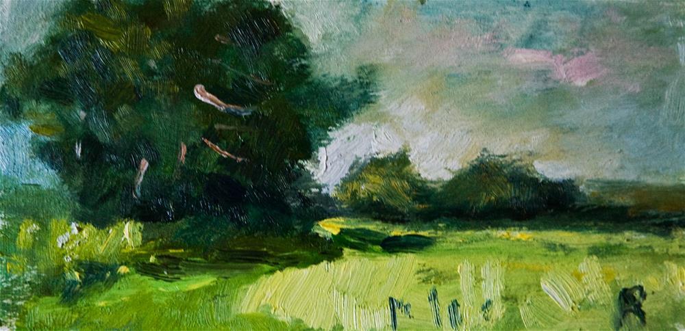 """Field near Crossbush"" original fine art by Andre Pallat"