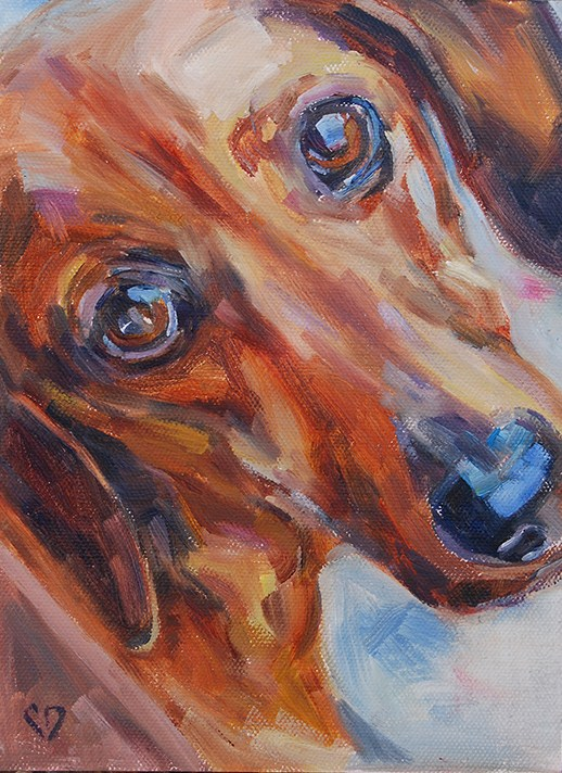 """Rusty"" original fine art by Carol DeMumbrum"