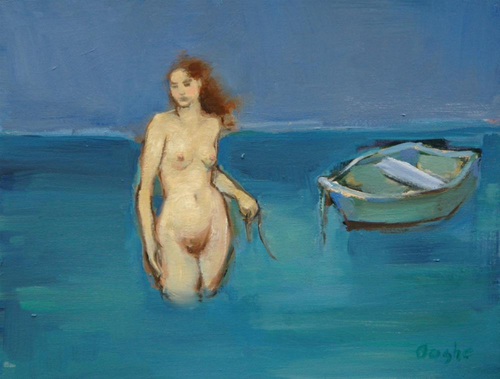 """Nude with Boat"" original fine art by Angela Ooghe"