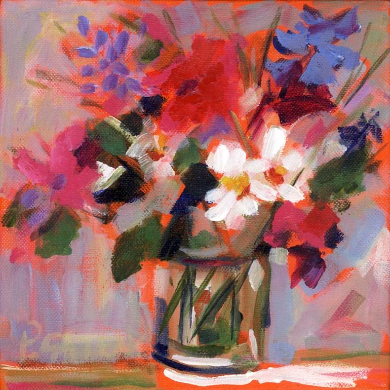 """""""Little Ditty Fleurs"""" original fine art by Pamela Gatens"""