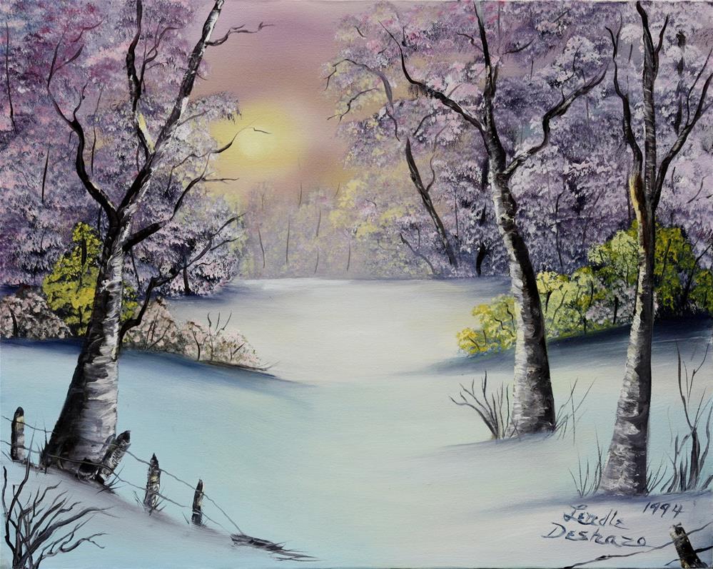 """""""Frosty Morn"""" original fine art by Lendel Holmes"""