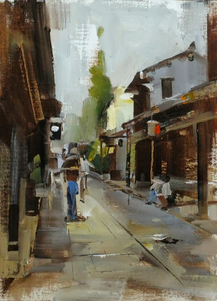 """Zhouzhuang Afternoon"" original fine art by Qiang Huang"