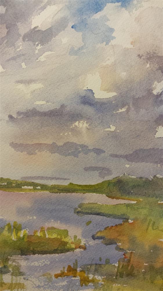"""""""Fenwick Island"""" original fine art by angela scully"""