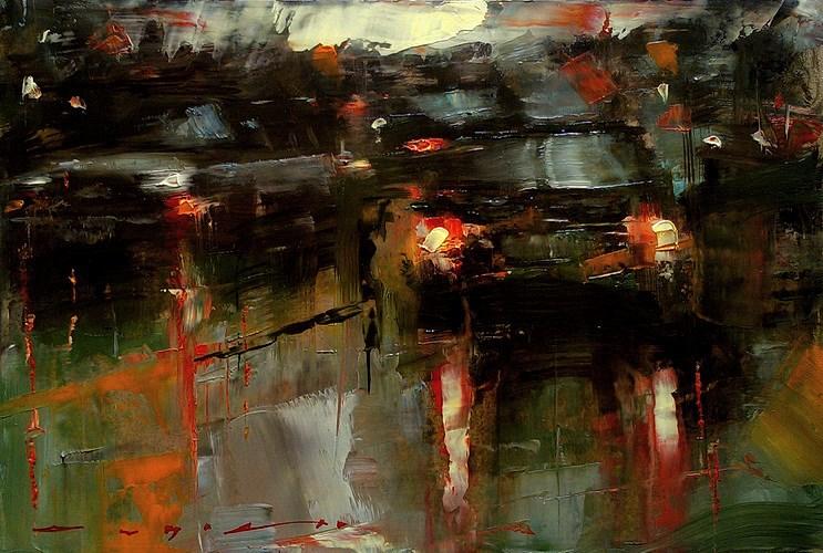 """CiityTraffic"" original fine art by Angel Angelov"
