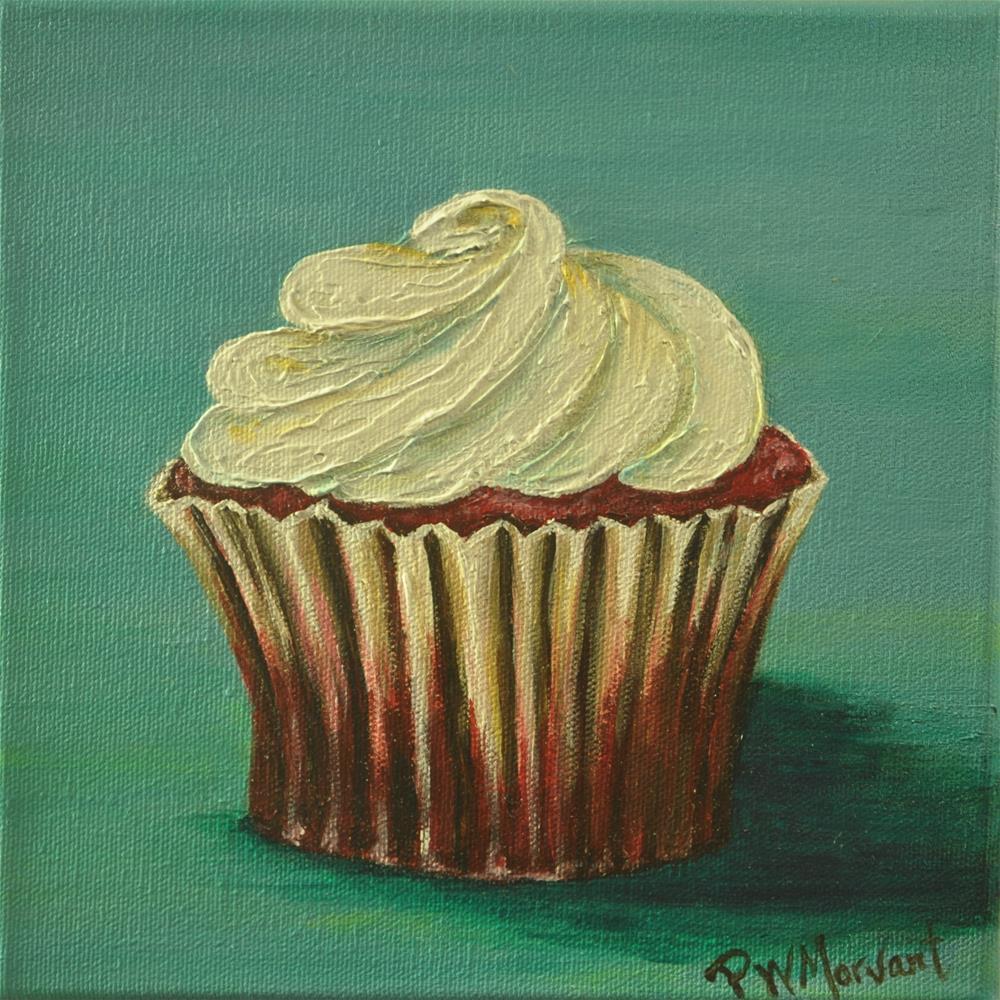 """Red Velvet Cupcake"" original fine art by Peggy W Morvant"