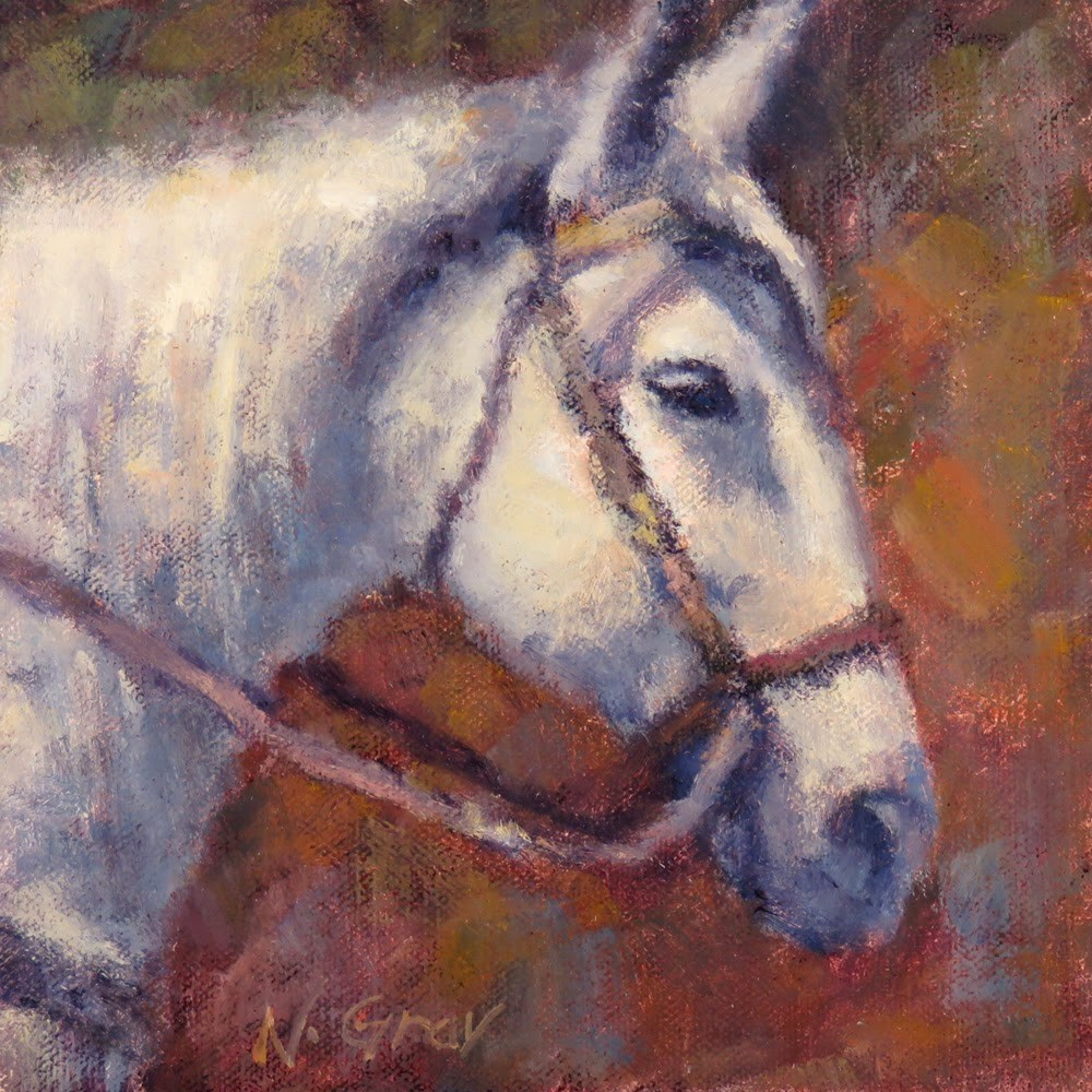"""Horse with Silver Mane"" original fine art by Naomi Gray"