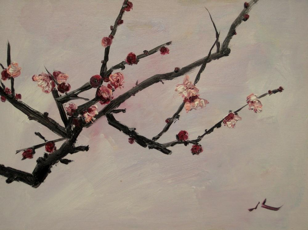 """Hello Spring"" original fine art by Julia Lu"