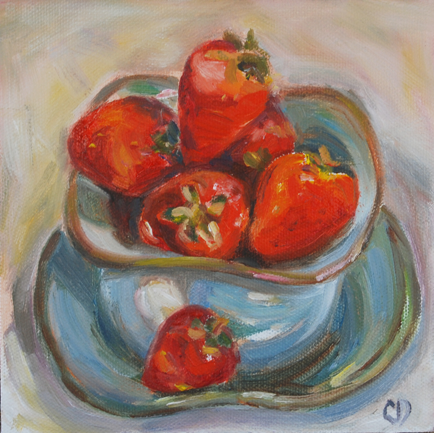 """Berry Bowl"" original fine art by Carol DeMumbrum"