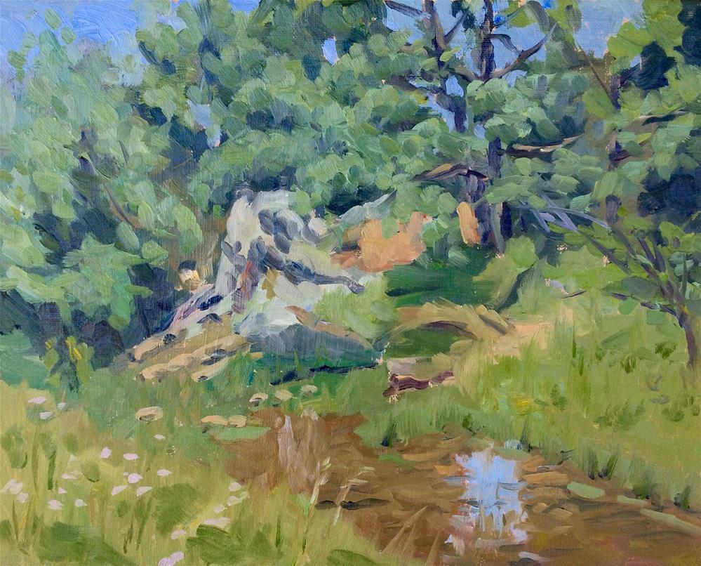 """""""Meadows Creek II"""" original fine art by Daniel Fishback"""