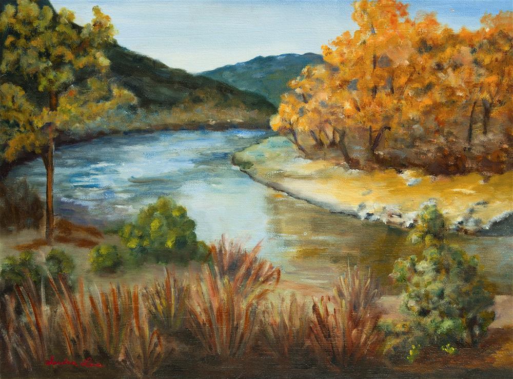 """Santa Fe River"" original fine art by Sandra Fullerton"