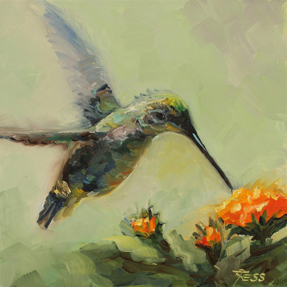 """Hummingbird-Seals and Crofts"" original fine art by Tess Lehman"