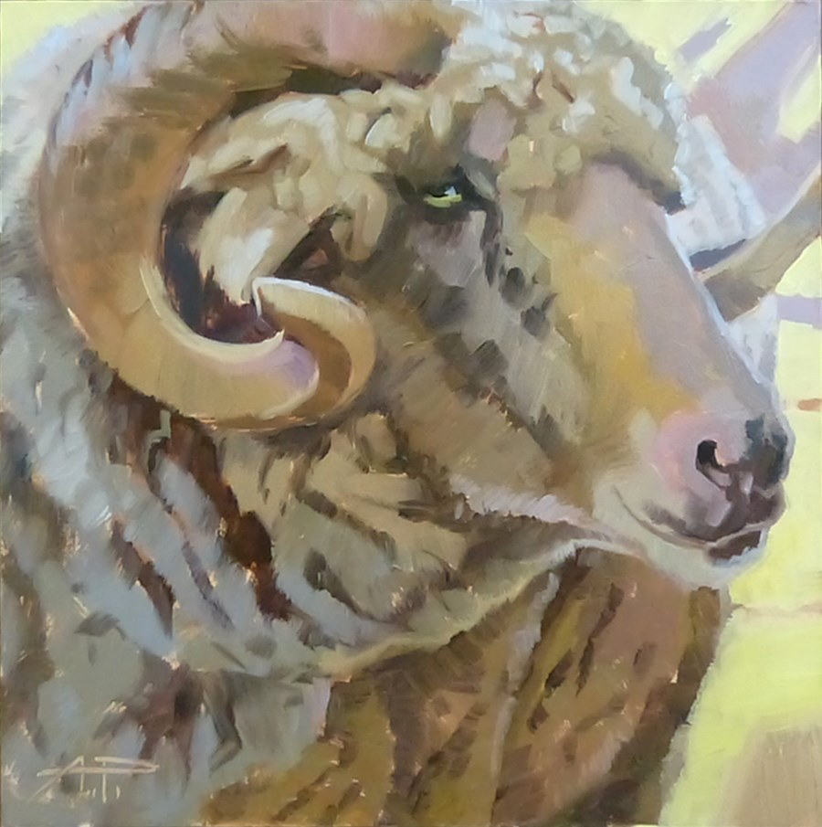 """""""Curly"""" original fine art by Anette Power"""