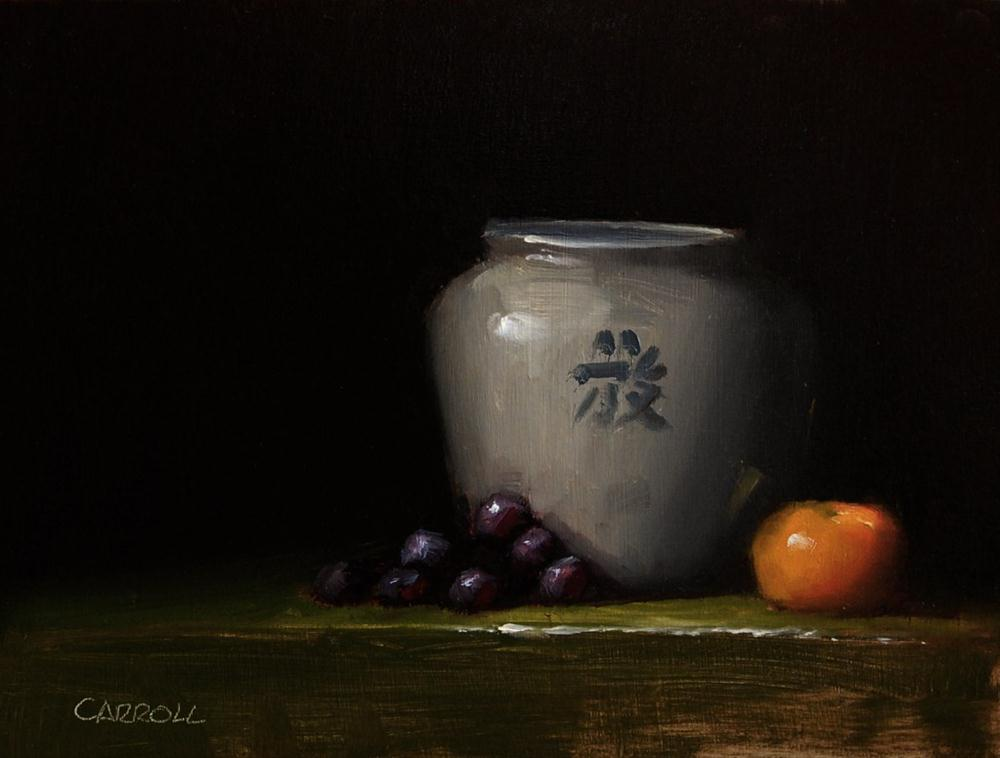 """Chinese Pot"" original fine art by Neil Carroll"