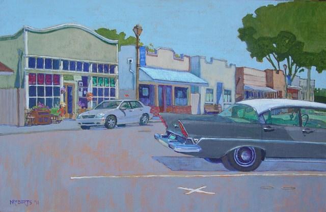 """Isleton Streetscape"" original fine art by Nancy Roberts"