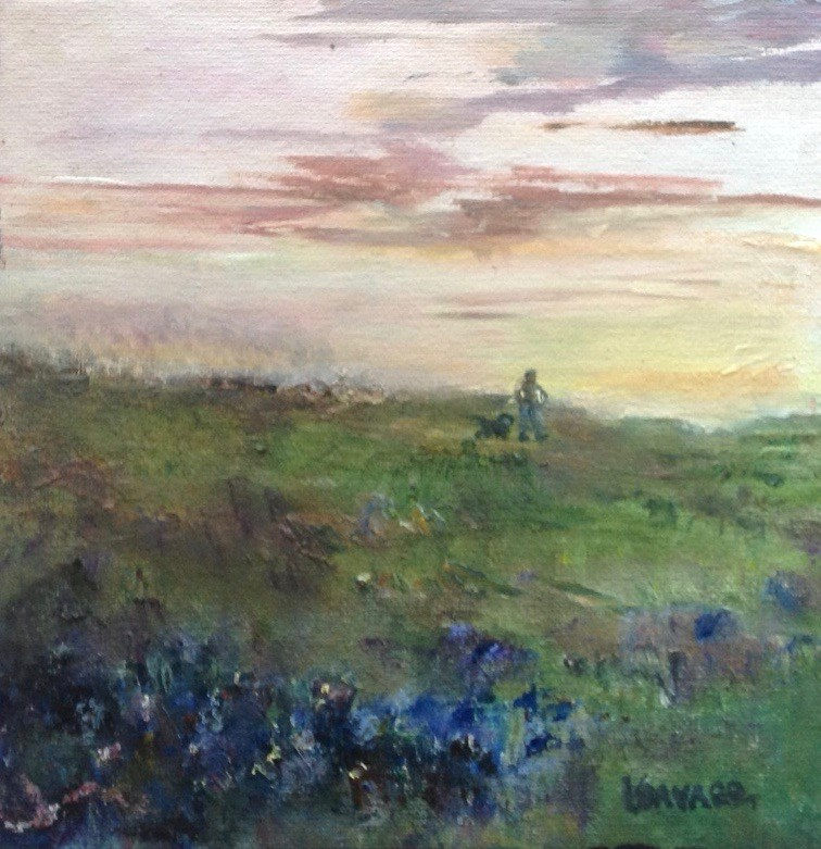 """Evening Walk"" original fine art by Judy Usavage"
