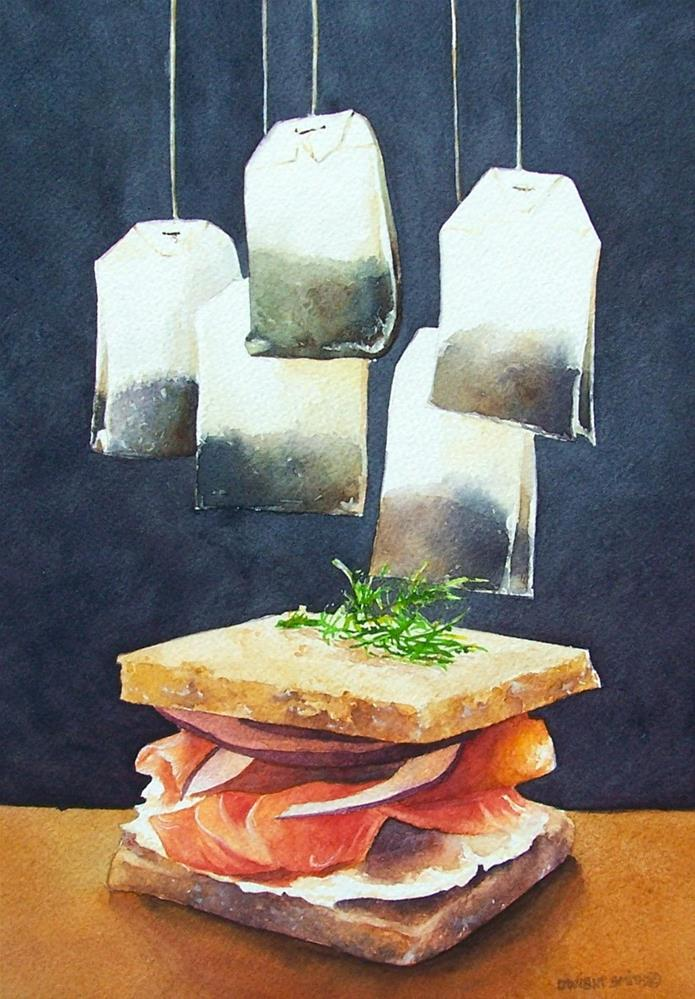 """ HIGH TEA "" original fine art by Dwight Smith"