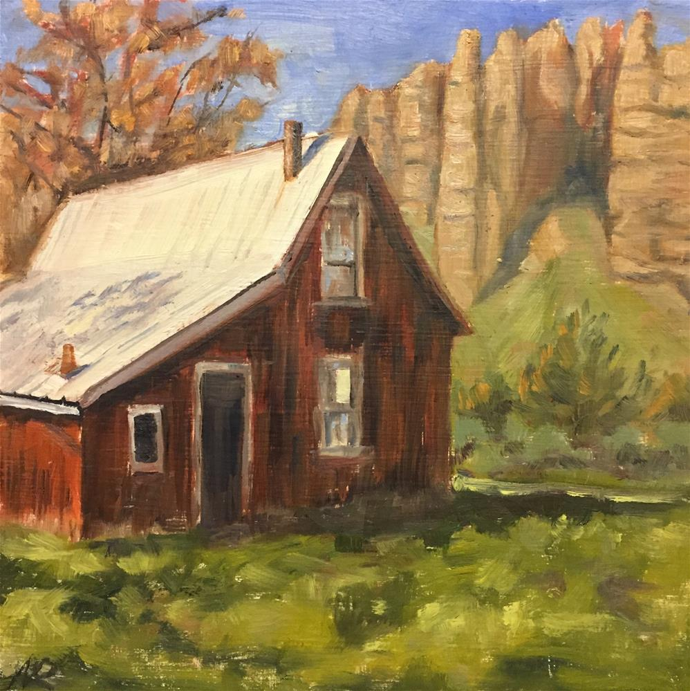 """Old homestead"" original fine art by Natasha Ramras"