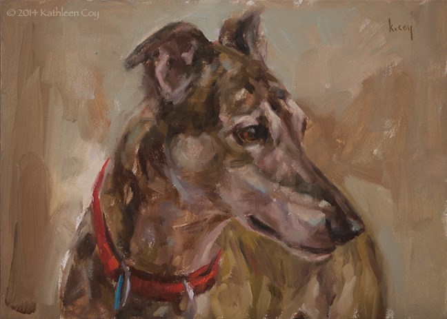 """54 - Greyhound"" original fine art by Kathleen Coy"