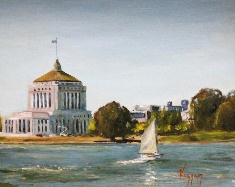 """Lake Merritt"" original fine art by Marco Vazquez"