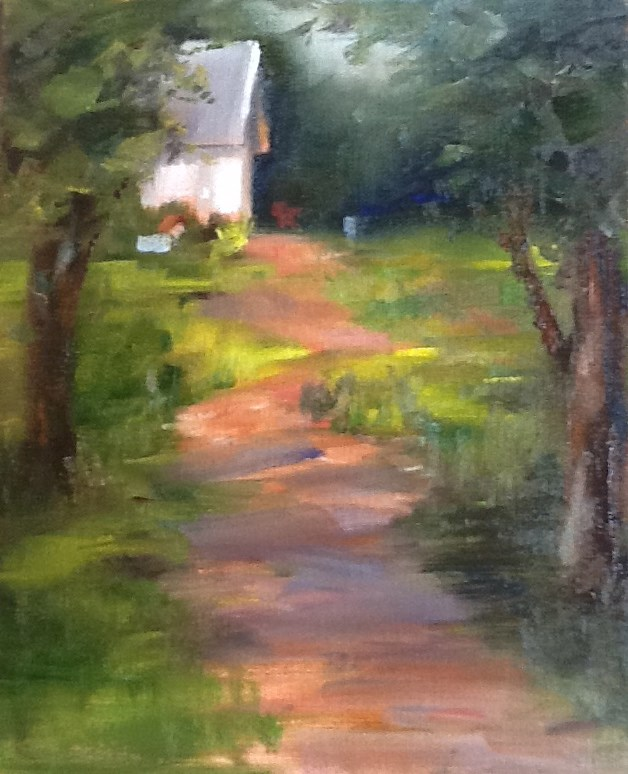 """Down the Lane"" original fine art by Linda Carney"