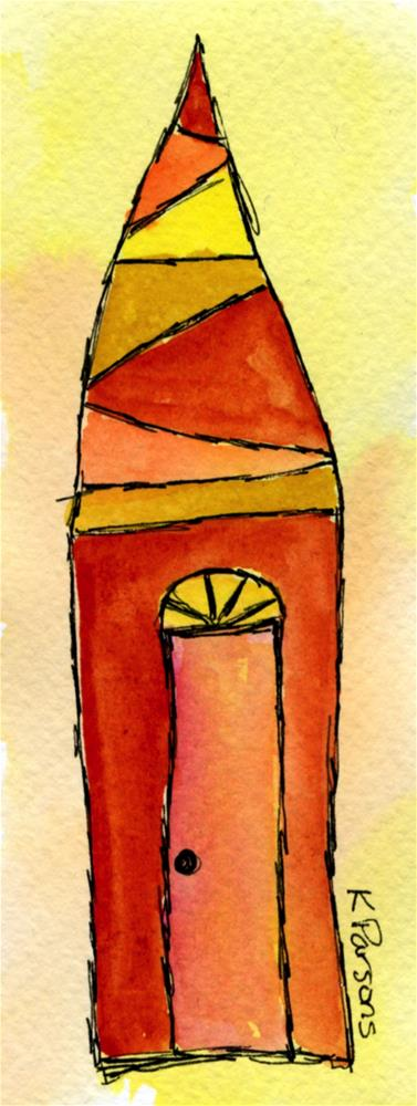 """Tall Pointed House"" original fine art by Kali Parsons"