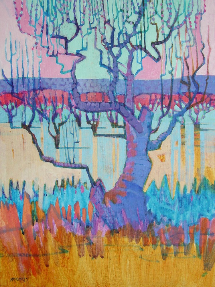 """Spirit Tree"" original fine art by Nancy Roberts"